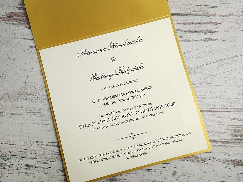 Zaproszenia ślubne: Royal Style RS25 - zdjęcie nr 2