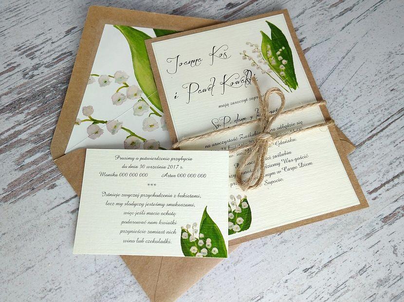 Zaproszenia ślubne: Vintage&Nature VN100 - zdjęcie nr 2