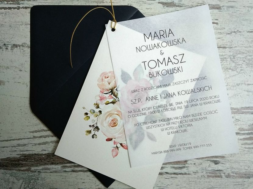 Zaproszenia ślubne: Nowości N20201 - zdjęcie nr 3