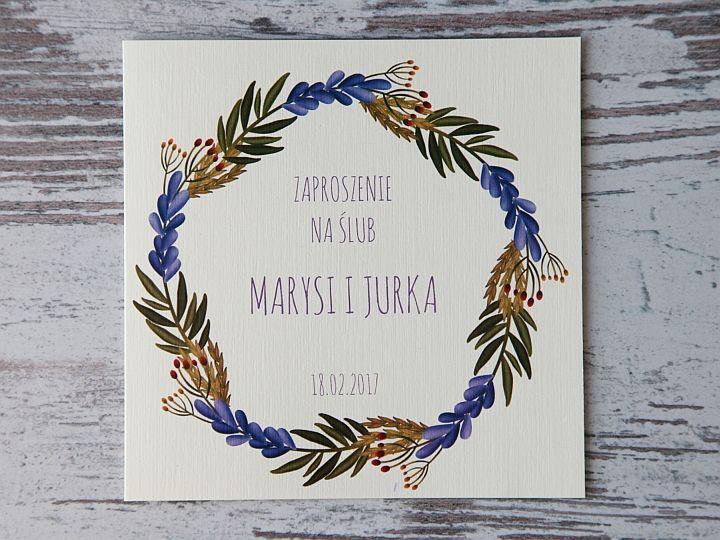 Zaproszenia ślubne: Pastellove PL20 - zdjęcie nr 1