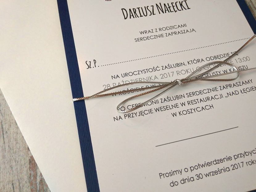 Carta Parati Classica Toile Elegance: Zaproszenia ślubne