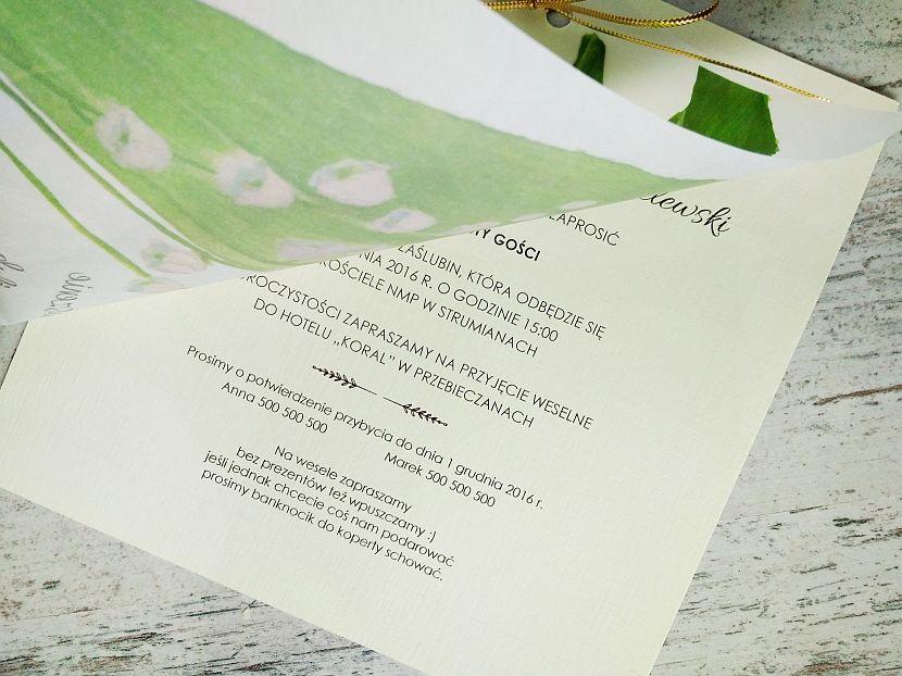 Zaproszenia ślubne: Pastellove PL100 - zdjęcie nr 3