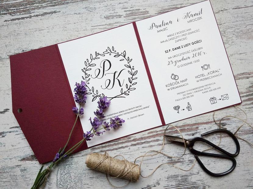 Zaproszenia ślubne: Nowości LP95 - zdjęcie nr 1