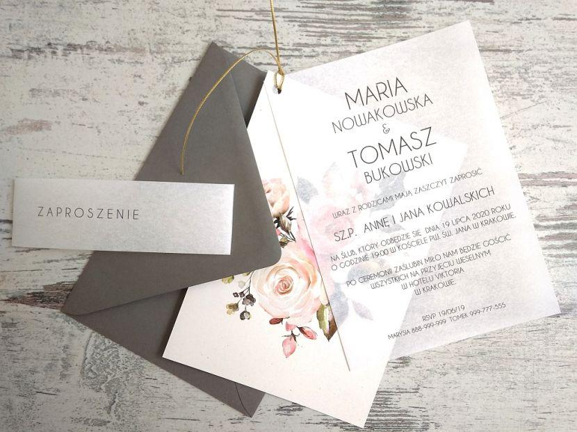 Zaproszenia ślubne: Nowości N20201 - zdjęcie nr 1