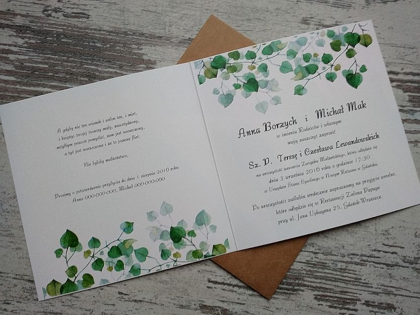 Zaproszenia ślubne: Nowości sf23 - zdjęcie nr 3