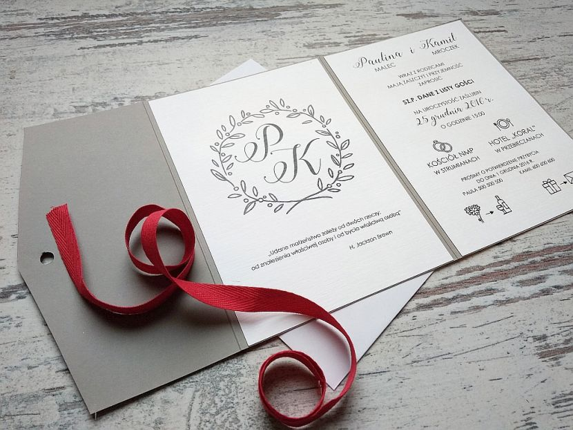 Zaproszenia ślubne: Nowości LP97 - zdjęcie nr 2